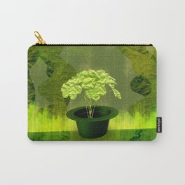 Abstract St Patrick day clover in a hat Carry-All Pouch