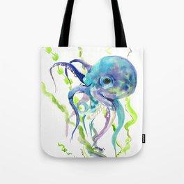 Underwater Scene Design, Octopus Tote Bag