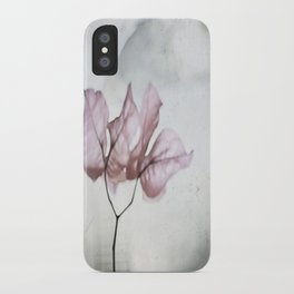 pale flower iPhone Case