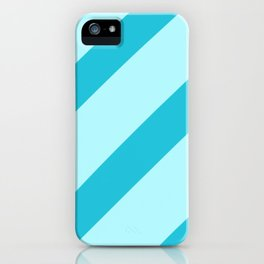 Minty Stripes iPhone Case