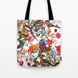 Floral and Birds XXXIII Tote Bag