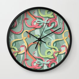 Snakes pattern 002 Wall Clock