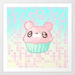 Cupcake Bear Art Print