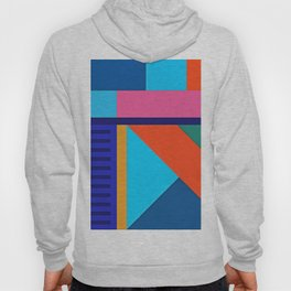 Modern Vibrant Geometric Pattern #10 Rectangles and Triangles Hoody