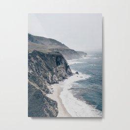 Beach Wall Art, Rocky Coast, Beach Print, Modern Wall Art Metal Print
