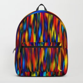 primary verticals on black Backpack