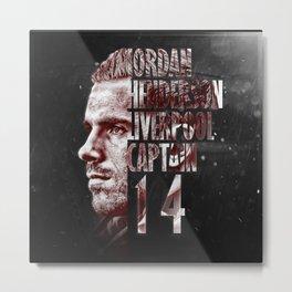 Liverpool FC: Jordan Henderson design Metal Print