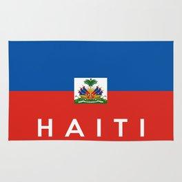 Haiti country flag name text  Rug