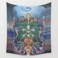 teacher Wall Tapestries featuring Ocean Teacher by MANASPHERE studio