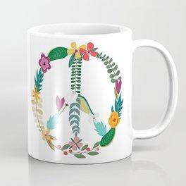 Floral Peace Sign Coffee Mug