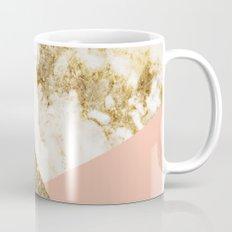 Gold marble collage Mug