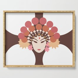 opera woman face Serving Tray