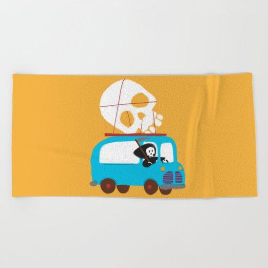 Death on wheels Beach Towel