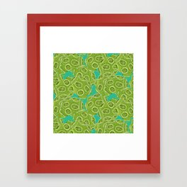 ocean algae Framed Art Print