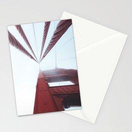 Golden Gate Bridge fogged up - San Francisco, CA Stationery Cards