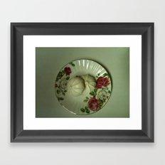 Tea with Grandmother Framed Art Print