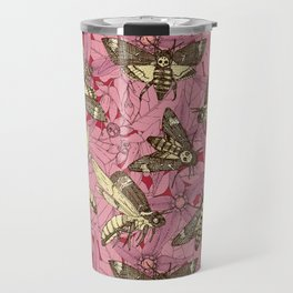 Death's-head hawkmoth rose Travel Mug