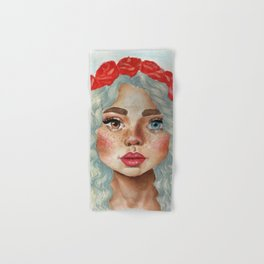'Girl With Flower Crown' Hand & Bath Towel