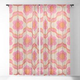 Salvador Dali's garden party Sheer Curtain