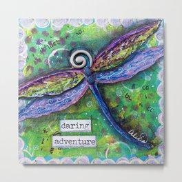 DARING ADVENTURE, Dragonfly Art Metal Print