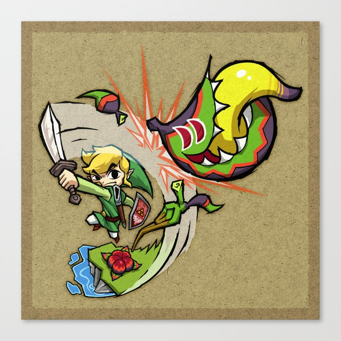 Legend of Zelda Wind Waker Boko Baba T-Shirt Canvas Print