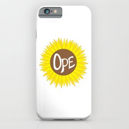 Hand Drawn Ope Sunflower Midwest iPhone Case