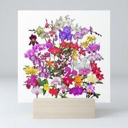 A celebration of orchids Mini Art Print