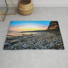 Jurassic Coast (Painting) Rug