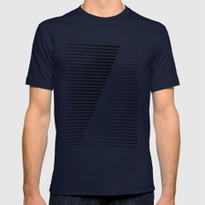 Black vs. White MEDIUM Mens Fitted Tee Navy