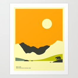 ROCKY MOUNTAIN NATIONAL PARK, BEAR LAKE Art Print