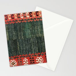 Cappadocian Central  Anatolian Antique Turkish Kilim Print Stationery Cards