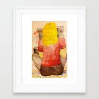 blondie Framed Art Prints featuring Blondie by Georgia Joy Williams