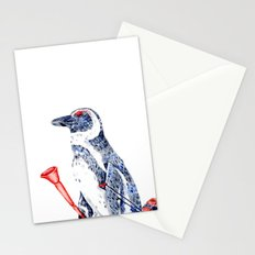 Penguin with a Suitcase and a Vuvuzela Stationery Cards