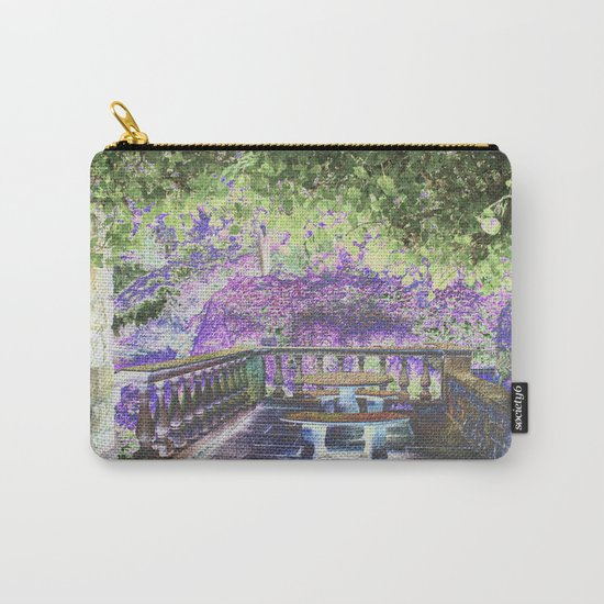 Lavender English Garden Carry-All Pouch