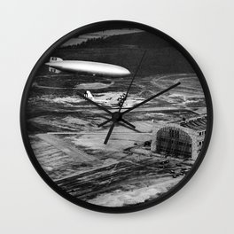 Zeppelin arrival over New Jersey Wall Clock
