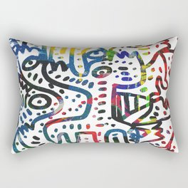 Graffiti Art Spray Painting White Street Comics Rectangular Pillow