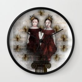 A Pair of Queens Wall Clock