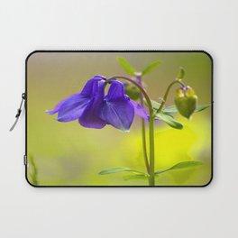 Purple Columbine In Spring Mood Laptop Sleeve