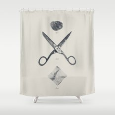 ROCK / SCISSORS / PAPER Shower Curtain