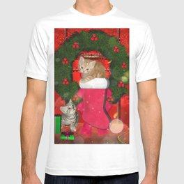 Christmas, funny kitten T-shirt