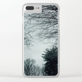 The Trees - Minty & Cool Clear iPhone Case