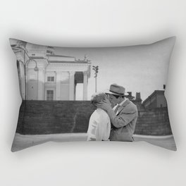 Collage Á bout de souffle (Breathless) - Jean-Luc Godard Rectangular Pillow