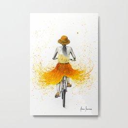 Summer Breeze Bicycle Metal Print