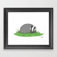 Badger Framed Art Print