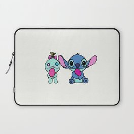 Stitch with toy eating ice cream Laptop Sleeve