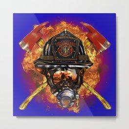 Firefighter rescue volunteer Metal Print