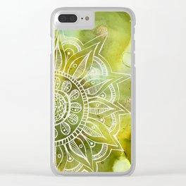 Goldzen Lining Clear iPhone Case