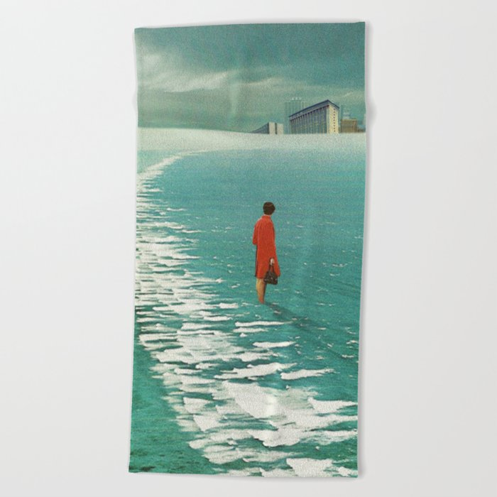 Waiting For The Cities To Fade Out Beach Towel