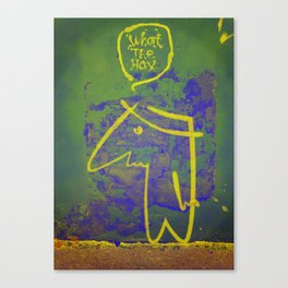 wth? man Canvas Print