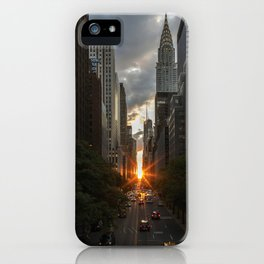 Manhattan Sunset iPhone Case